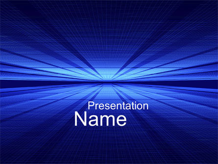 Abstract/Textures: Digital Perspective PowerPoint Template #10485