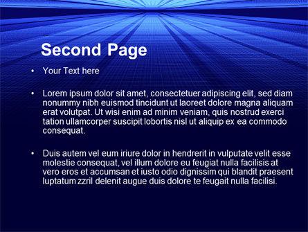 Digital Perspective PowerPoint Template, Slide 2, 10485, Abstract/Textures — PoweredTemplate.com