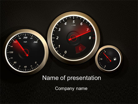 Cars and Transportation: Modelo do PowerPoint - painel do carro #10486