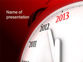 Business Concepts: 2013 New Year Clock PowerPoint Template #10488
