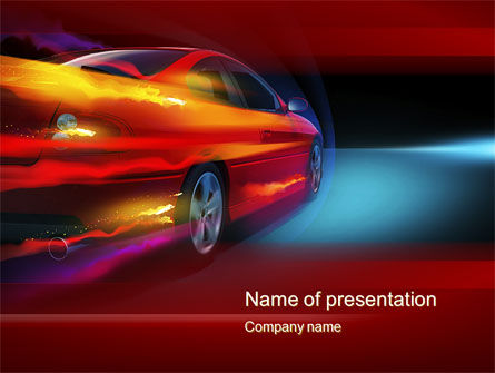 Cars and Transportation: Fast and Furious PowerPoint Template #10492