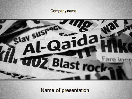 Politics and Government: Terrorism PowerPoint Template #10494