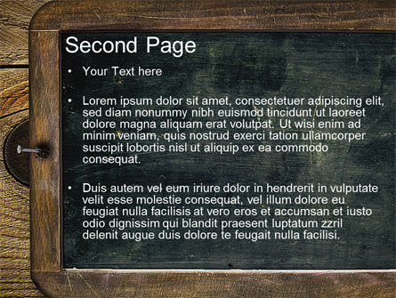 Chalkboard PowerPoint Template, Slide 2, 10495, General — PoweredTemplate.com