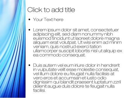 Stretched Blue Lines PowerPoint Template, Slide 3, 10497, Abstract/Textures — PoweredTemplate.com
