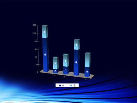 Stretched Blue Lines PowerPoint Template Slide 17