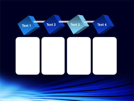 Stretched Blue Lines PowerPoint Template Slide 18