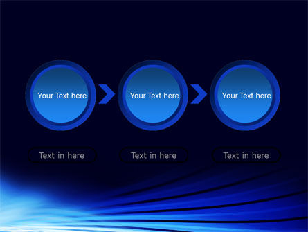 Stretched Blue Lines PowerPoint Template Slide 5