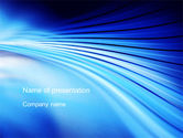 Abstract/Textures: Stretched Blue Lines PowerPoint Template #10497