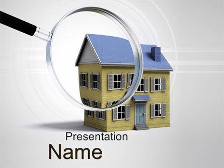 Property Search PowerPoint Template, 10499, Real Estate — PoweredTemplate.com