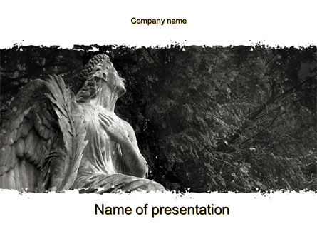 Angel Tombstone PowerPoint Template