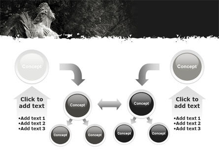 Angel Tombstone PowerPoint Template Slide 19