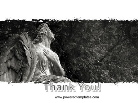 Angel Tombstone PowerPoint Template Slide 20