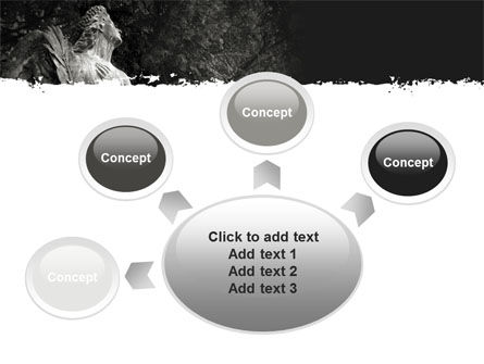 Angel Tombstone PowerPoint Template Slide 7