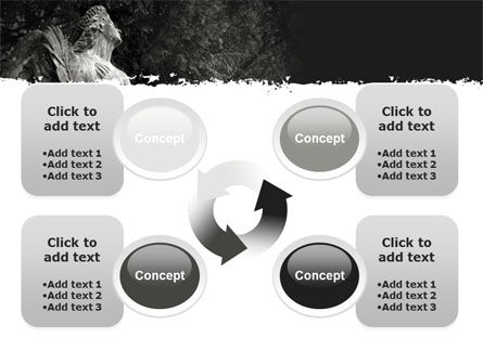 Angel Tombstone PowerPoint Template Slide 9