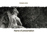 Construction: Angel Tombstone PowerPoint Template #10501