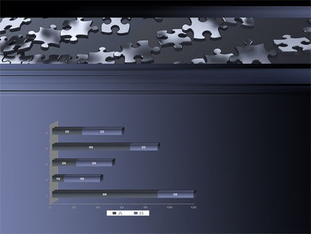 Lines of Puzzle Pieces PowerPoint Template Slide 11