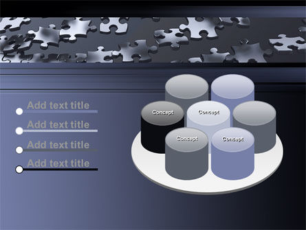 Lines of Puzzle Pieces PowerPoint Template Slide 12