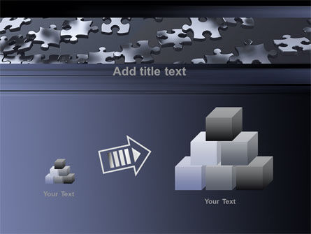 Lines of Puzzle Pieces PowerPoint Template Slide 13