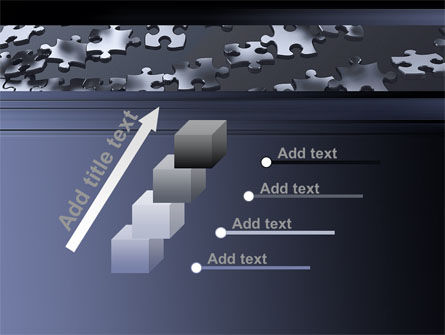 Lines of Puzzle Pieces PowerPoint Template Slide 14