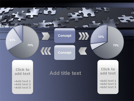 Lines of Puzzle Pieces PowerPoint Template Slide 16
