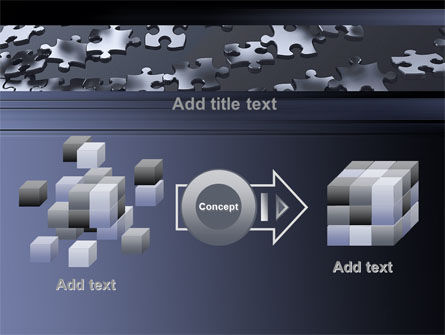 Lines of Puzzle Pieces PowerPoint Template Slide 17