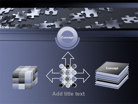 Lines of Puzzle Pieces PowerPoint Template Slide 19