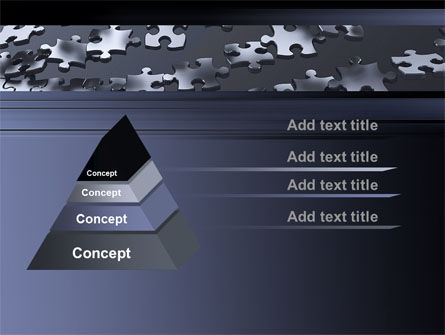 Lines of Puzzle Pieces PowerPoint Template Slide 4