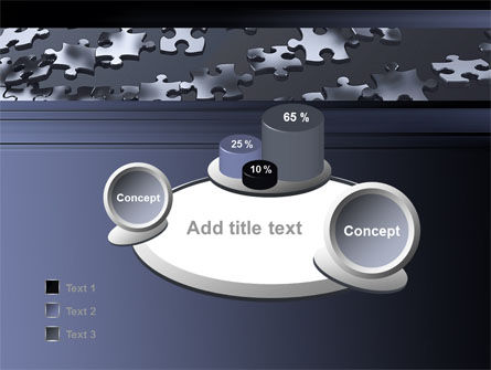 Lines of Puzzle Pieces PowerPoint Template Slide 6