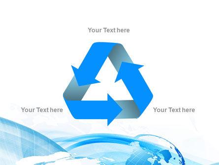 Blue Waves Globe PowerPoint Template Slide 10