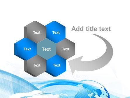 Blue Waves Globe PowerPoint Template Slide 11