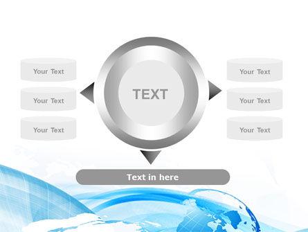 Blue Waves Globe PowerPoint Template Slide 12