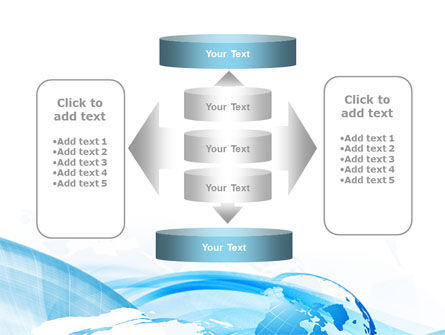Blue Waves Globe PowerPoint Template Slide 13