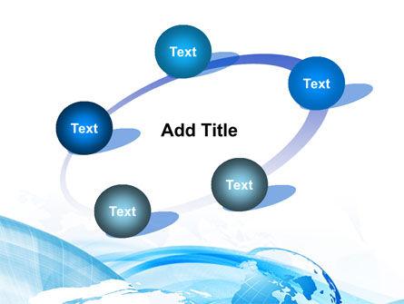 Blue Waves Globe PowerPoint Template Slide 14