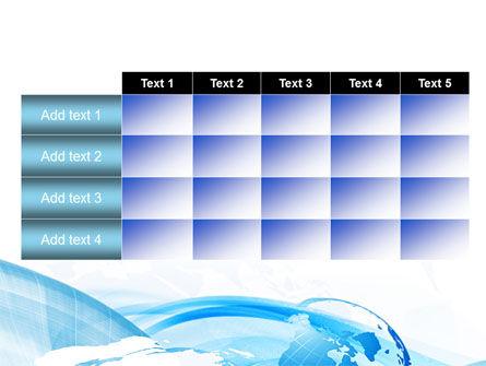 Blue Waves Globe PowerPoint Template Slide 15