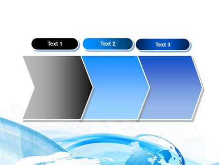 Blue Waves Globe PowerPoint Template Slide 16
