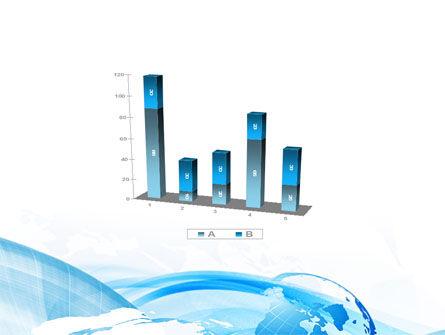 Blue Waves Globe PowerPoint Template Slide 17