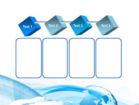 Blue Waves Globe PowerPoint Template Slide 18