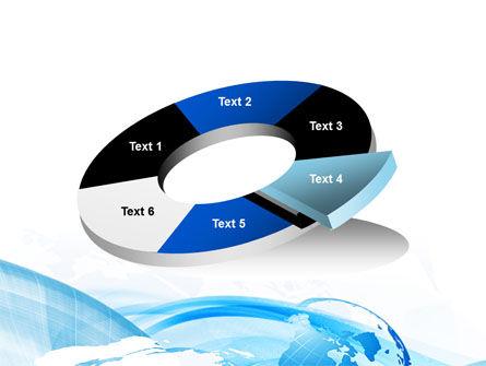 Blue Waves Globe PowerPoint Template Slide 19