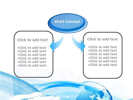 Blue Waves Globe PowerPoint Template, Slide 4, 10503, Global — PoweredTemplate.com