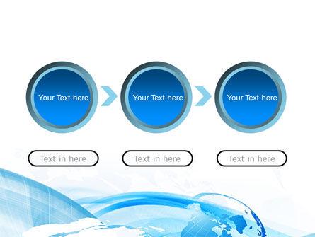 Blue Waves Globe PowerPoint Template Slide 5