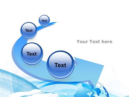 Blue Waves Globe PowerPoint Template Slide 6