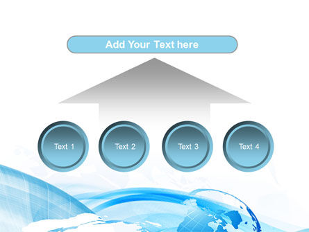 Blue Waves Globe PowerPoint Template Slide 8
