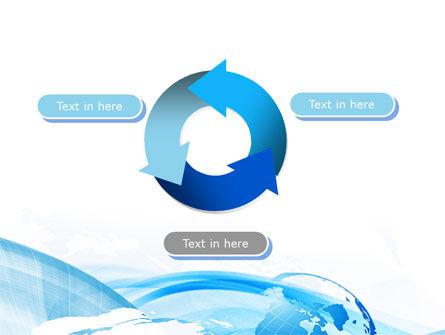 Blue Waves Globe PowerPoint Template Slide 9