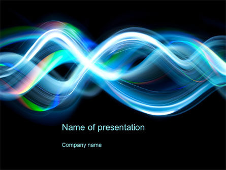 Sine Waves PowerPoint Template, 10505, Abstract/Textures — PoweredTemplate.com