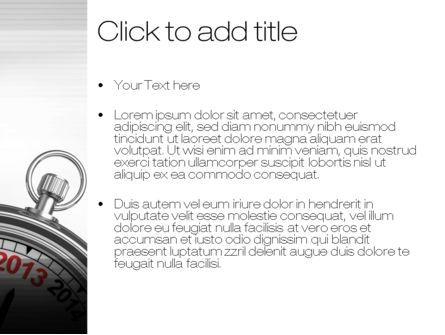 2013 Stopwatch PowerPoint Template, Slide 3, 10506, Business Concepts — PoweredTemplate.com