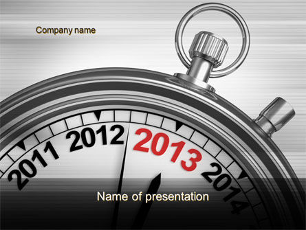 Business Concepts: 2013 Stopwatch PowerPoint Template #10506