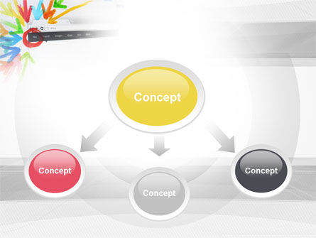 Be Social PowerPoint Template, Slide 4, 10507, Technology and Science — PoweredTemplate.com