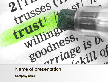 Business Concepts: The Word Trust PowerPoint Template #10511
