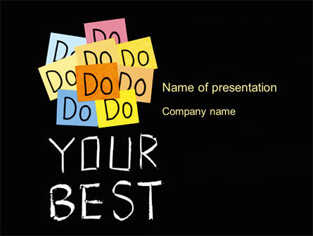 Do Your Best PowerPoint Template, 10512, Education & Training — PoweredTemplate.com