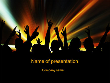 Careers/Industry: Concert Crowd PowerPoint Template #10515